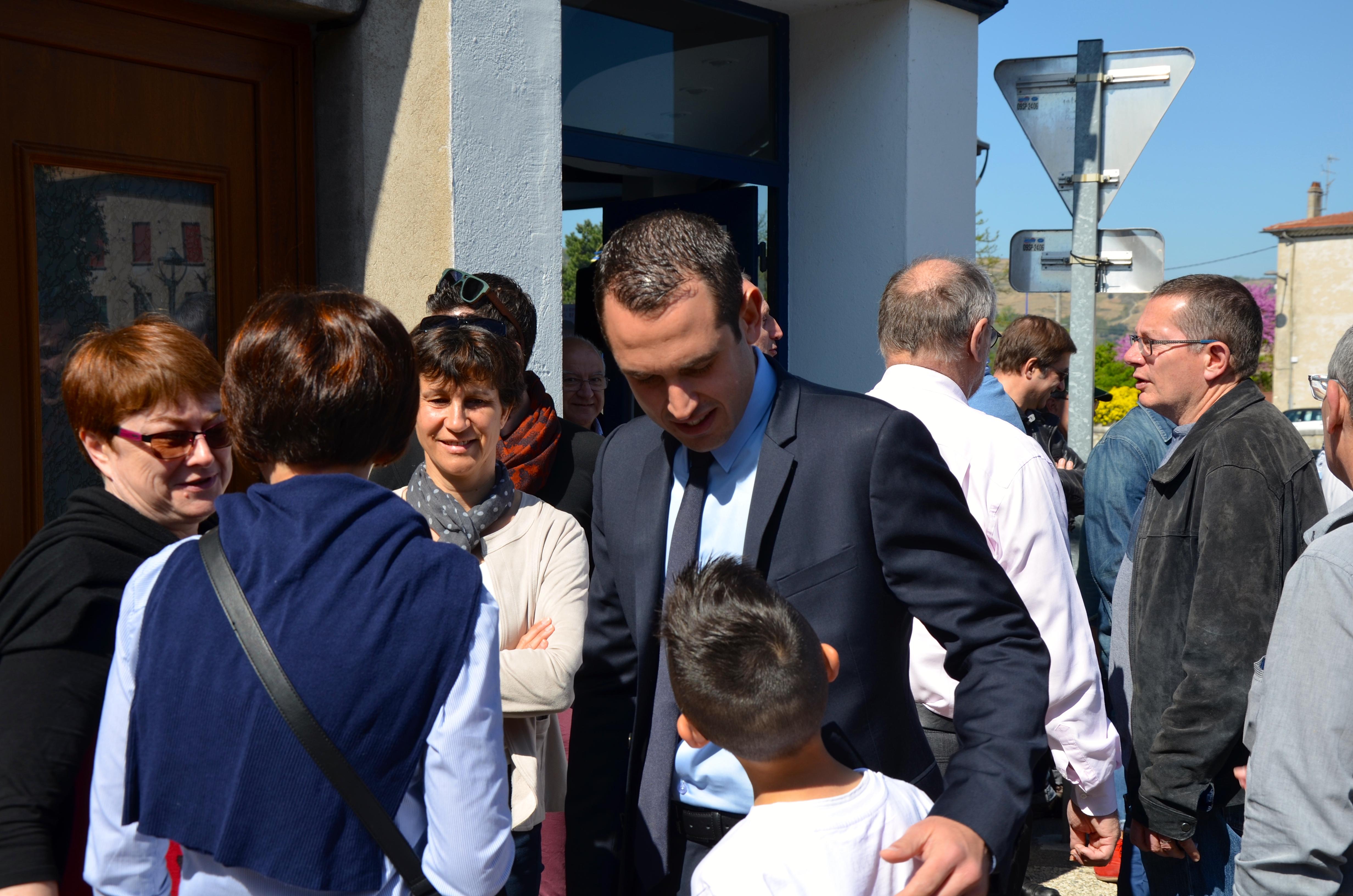 Inauguration de mon local de campagne à Saint-Vallier