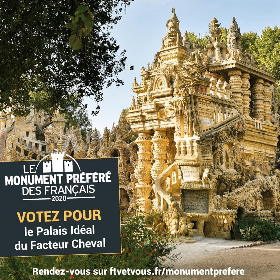 Faisons du Palais idéal le monument préféré des Français !