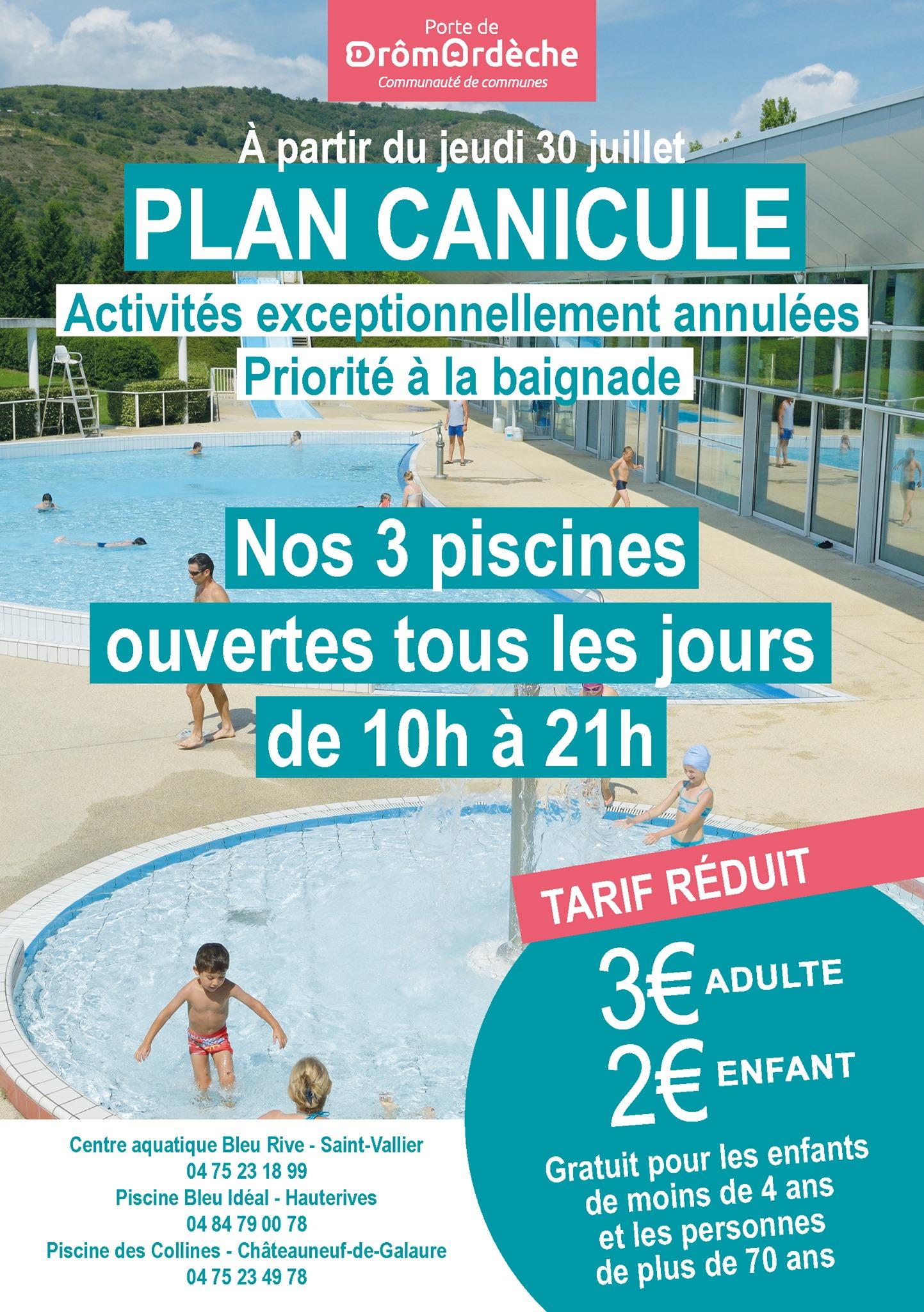 Porte de DrômArdèche : activation du Plan canicule