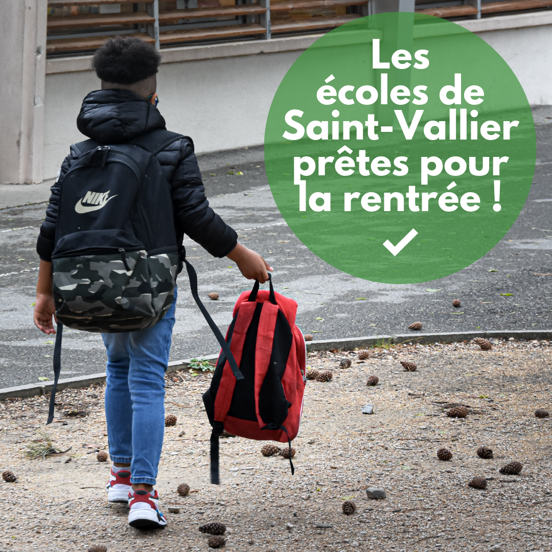 Une rentrée scolaire sereine à Saint-Vallier !
